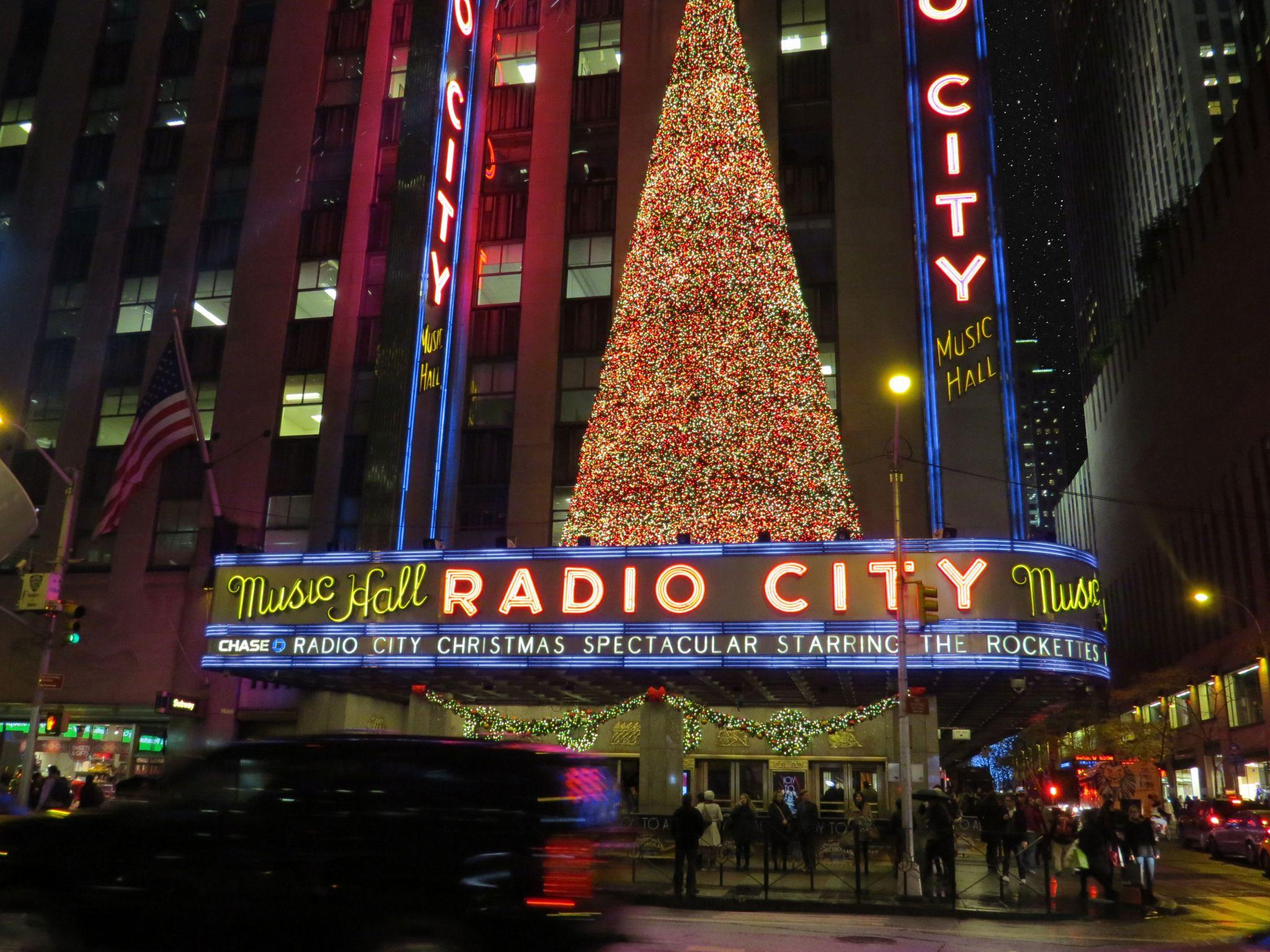 Radio City Music Hall on Broadway in NYC