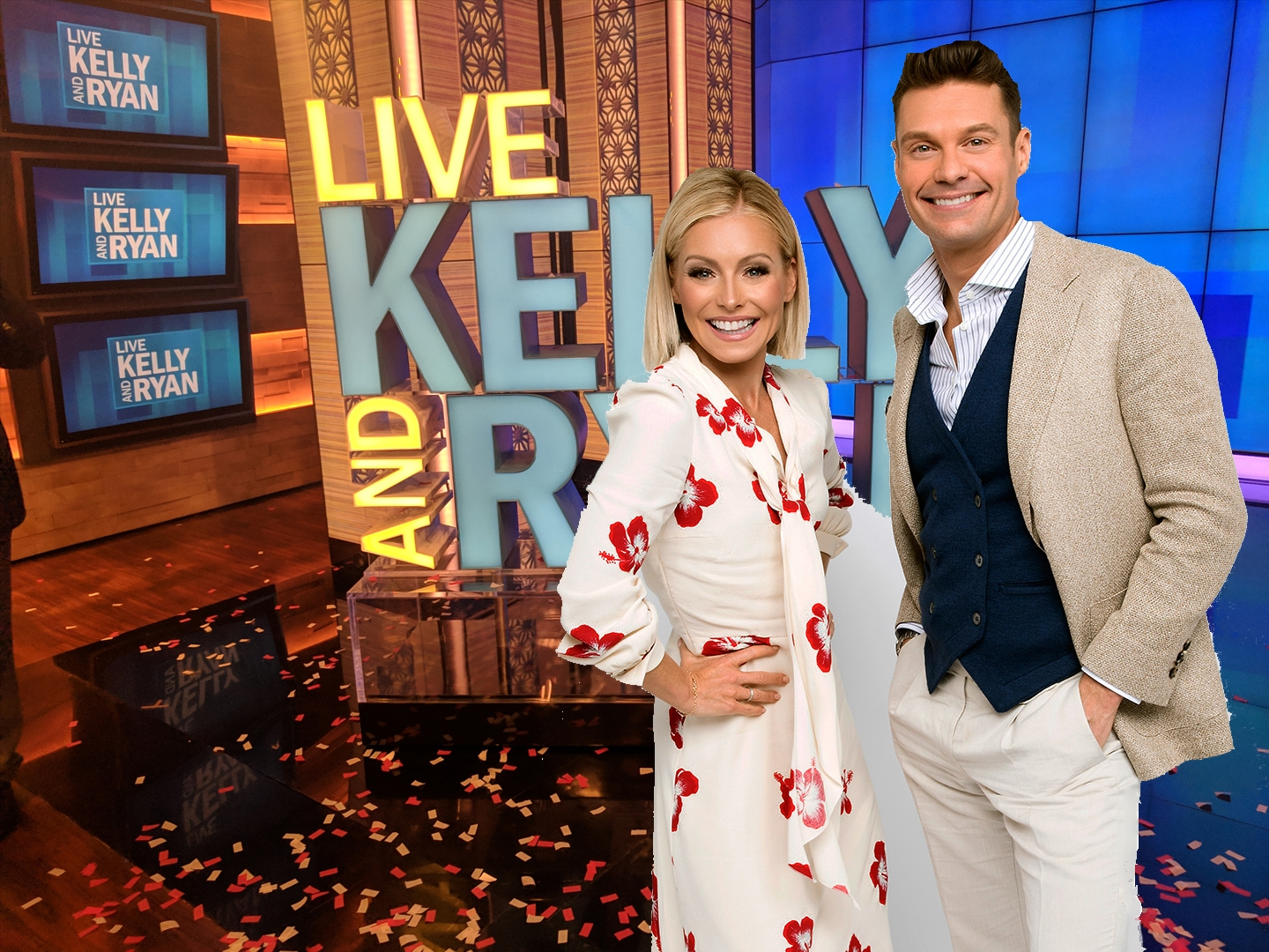 Kelly Ripa and Ryan Seacrest host Live!