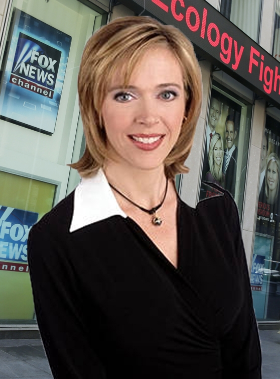 Linda Vester at her Fox Show