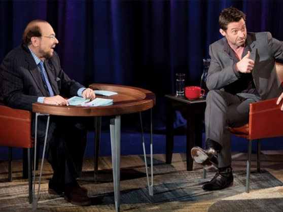 James Lipton sits with actor Hugh Jackman