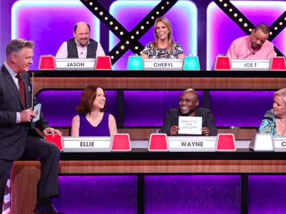 Celebrities compete against each other on Match Game