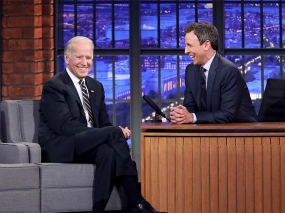 Former Vice President Joe Biden joins Seth Meyers