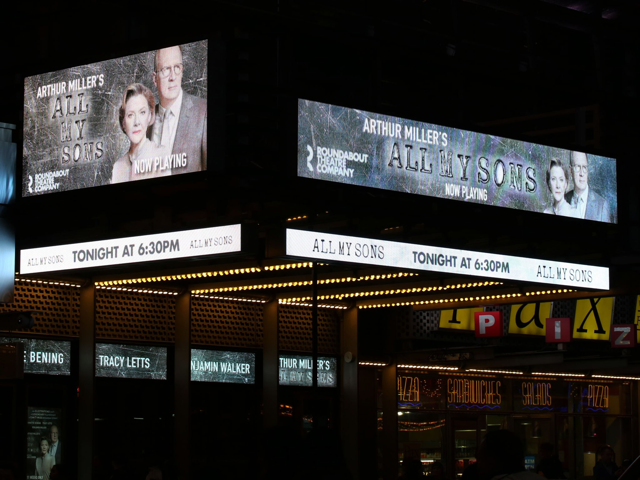 All My Sons American Airlines Broadway Theatre Marquee