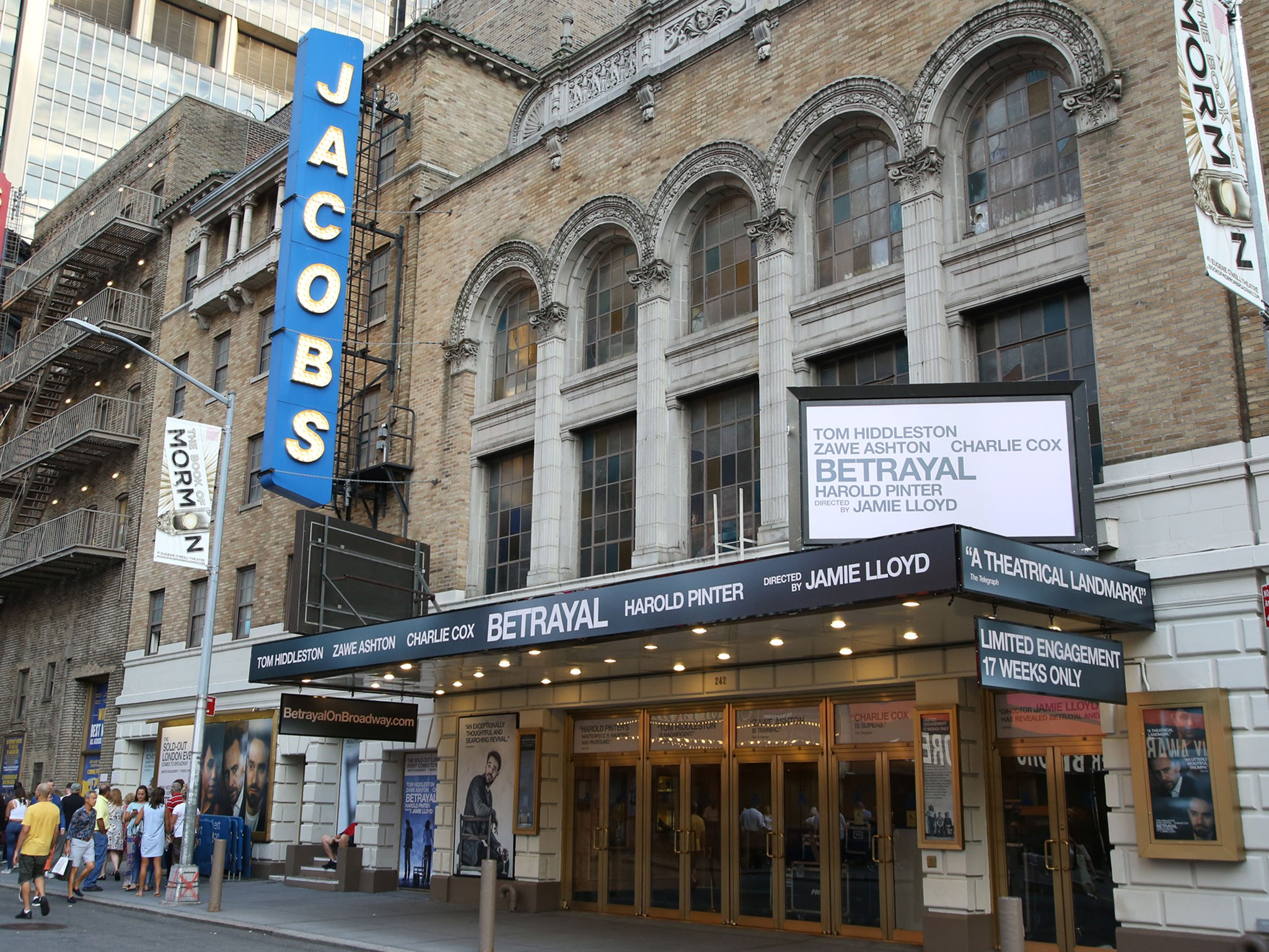 Betrayal Broadway Bernard B Jacobs Theatre Marquee Entrance