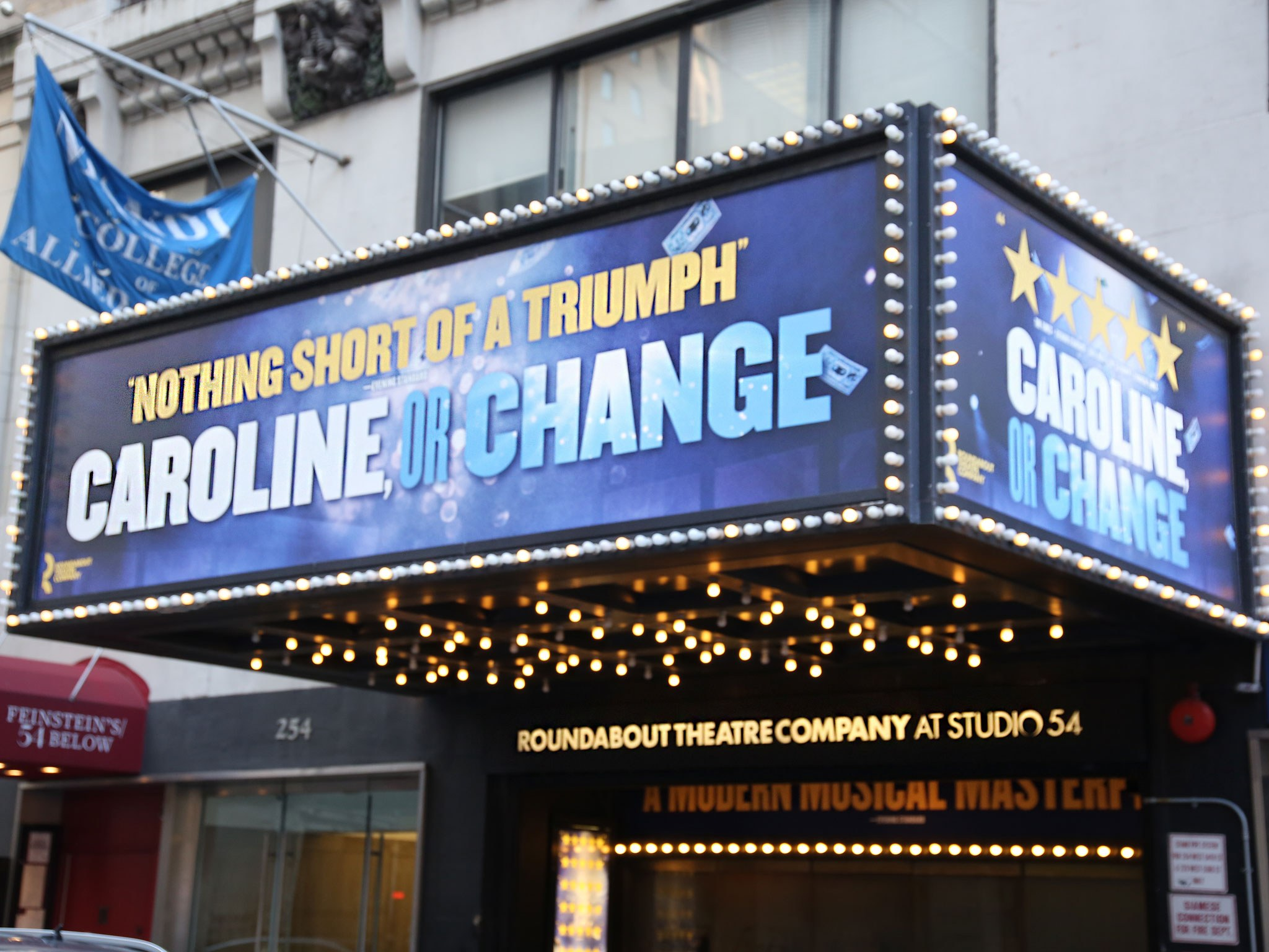 Caroline or Change Marquee at the Studio 54 Theatre