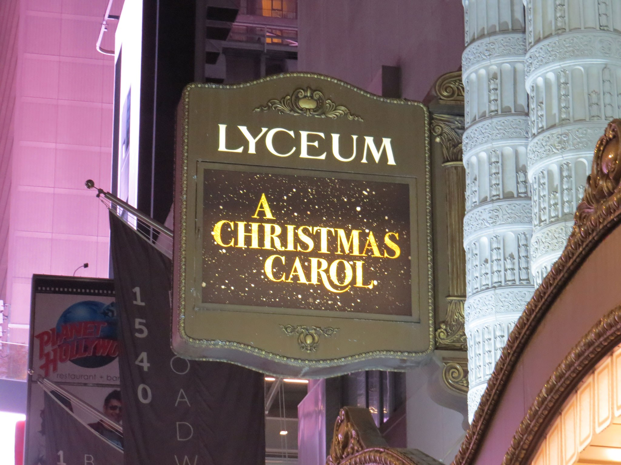 A Christmas Carol Broadway Theatre Marquee