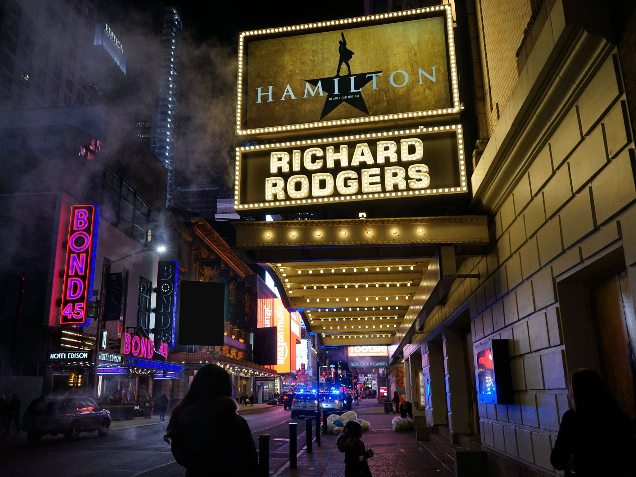 Hamilton Richard Rodgers Broadway Theatre Marquee