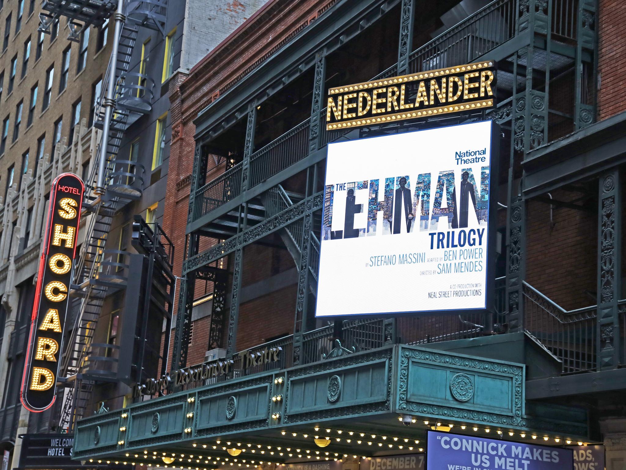 The Lehman Trilogy at the Nederlander Theatre