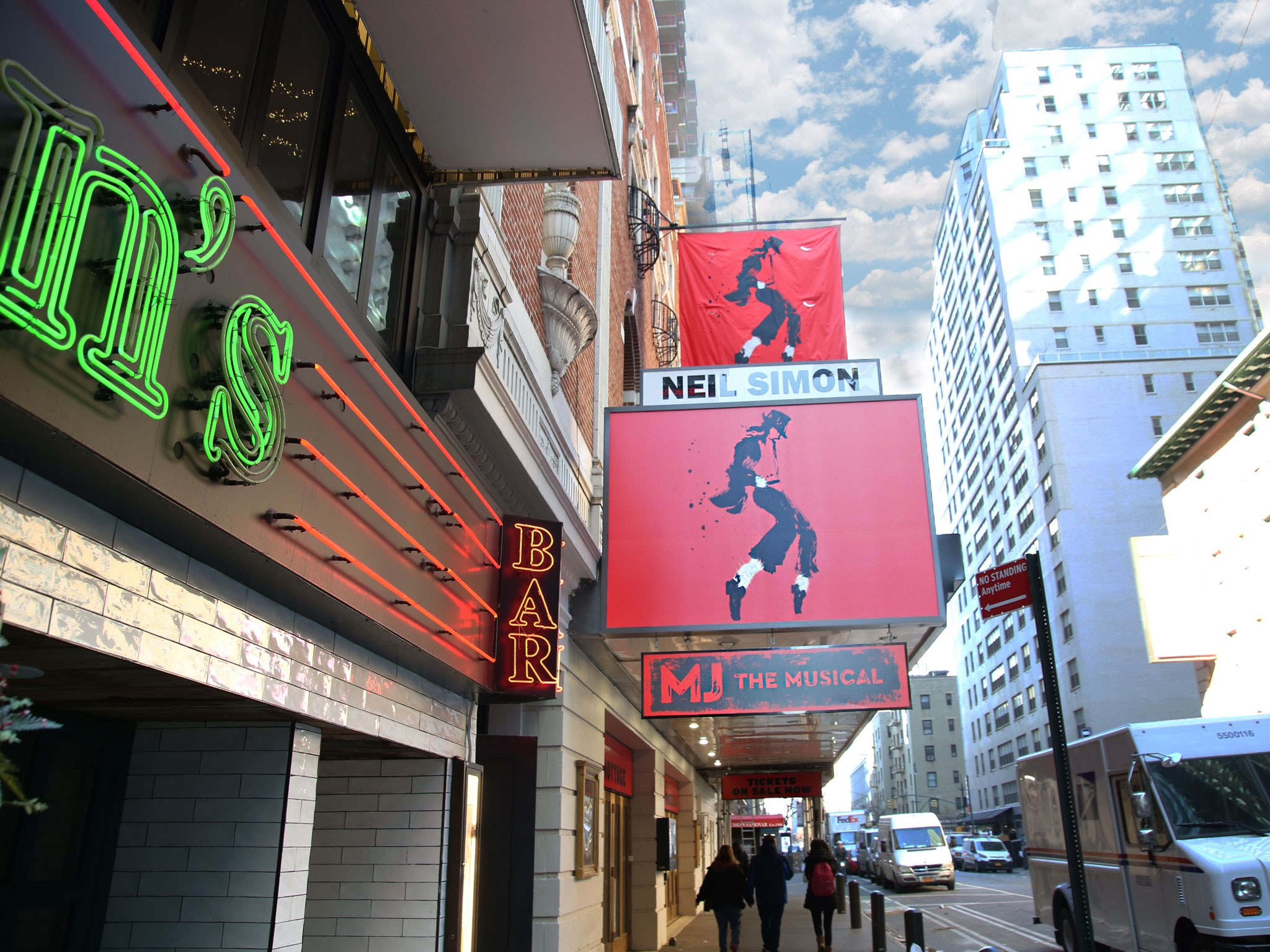 MJ The Musical Marquee at the Neil Simon Theatre