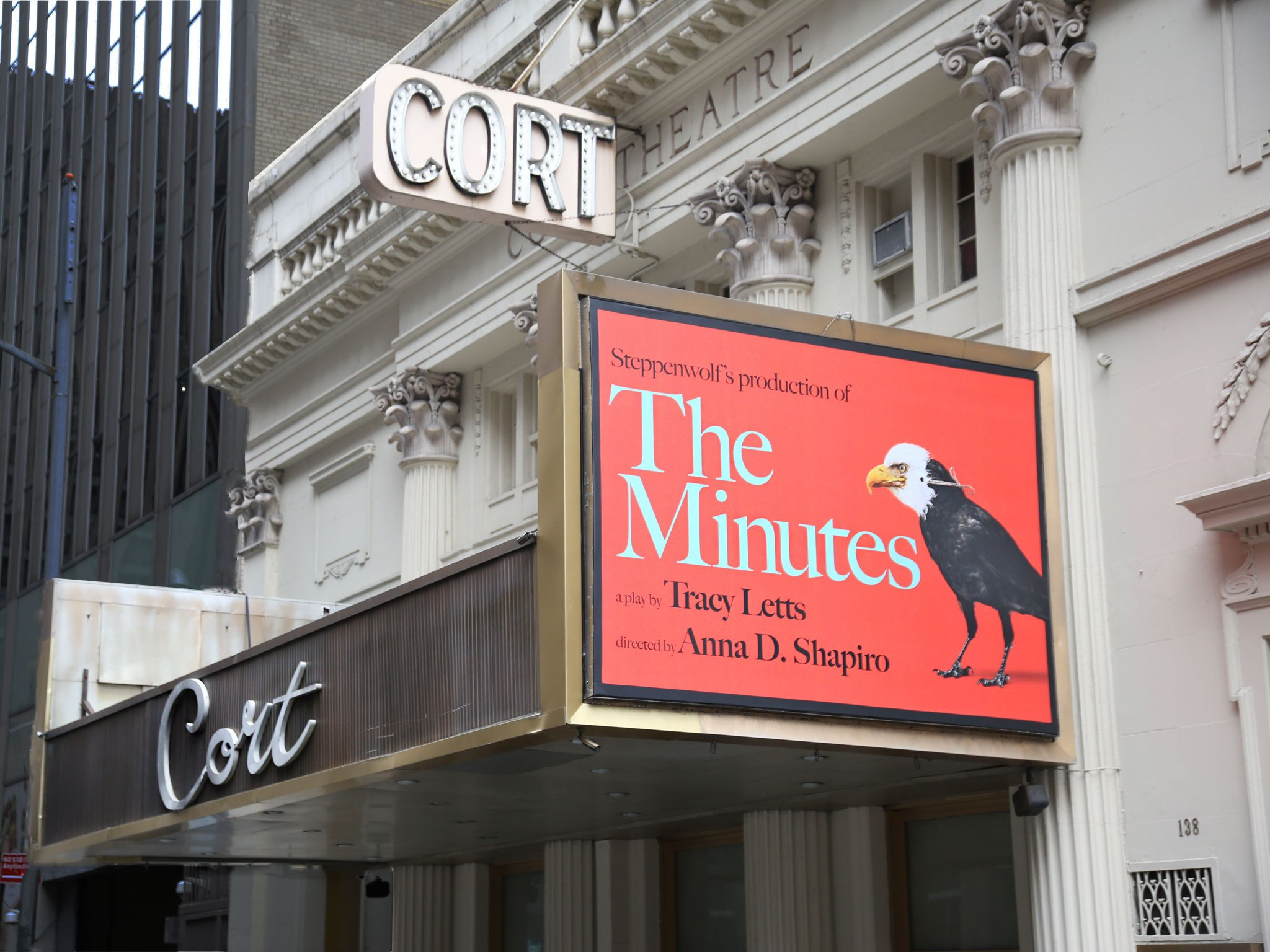 The Minutes Marquee at the Cort Theatre