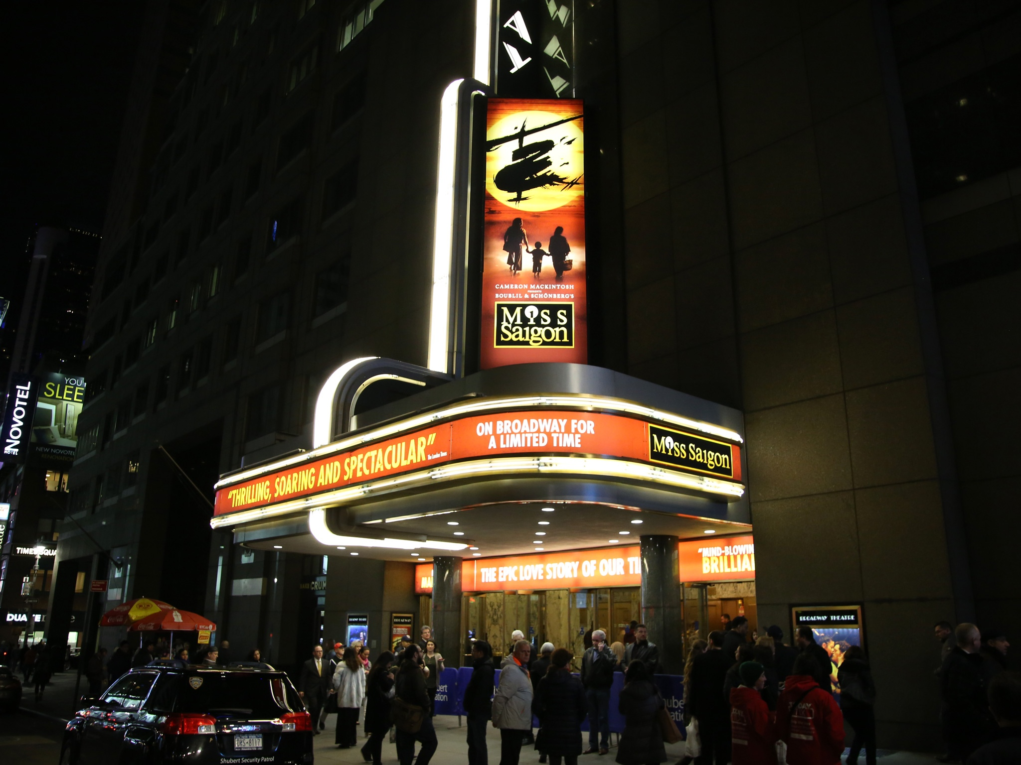 Misssaigon Broadway Theatre Marquee Night Time Shot