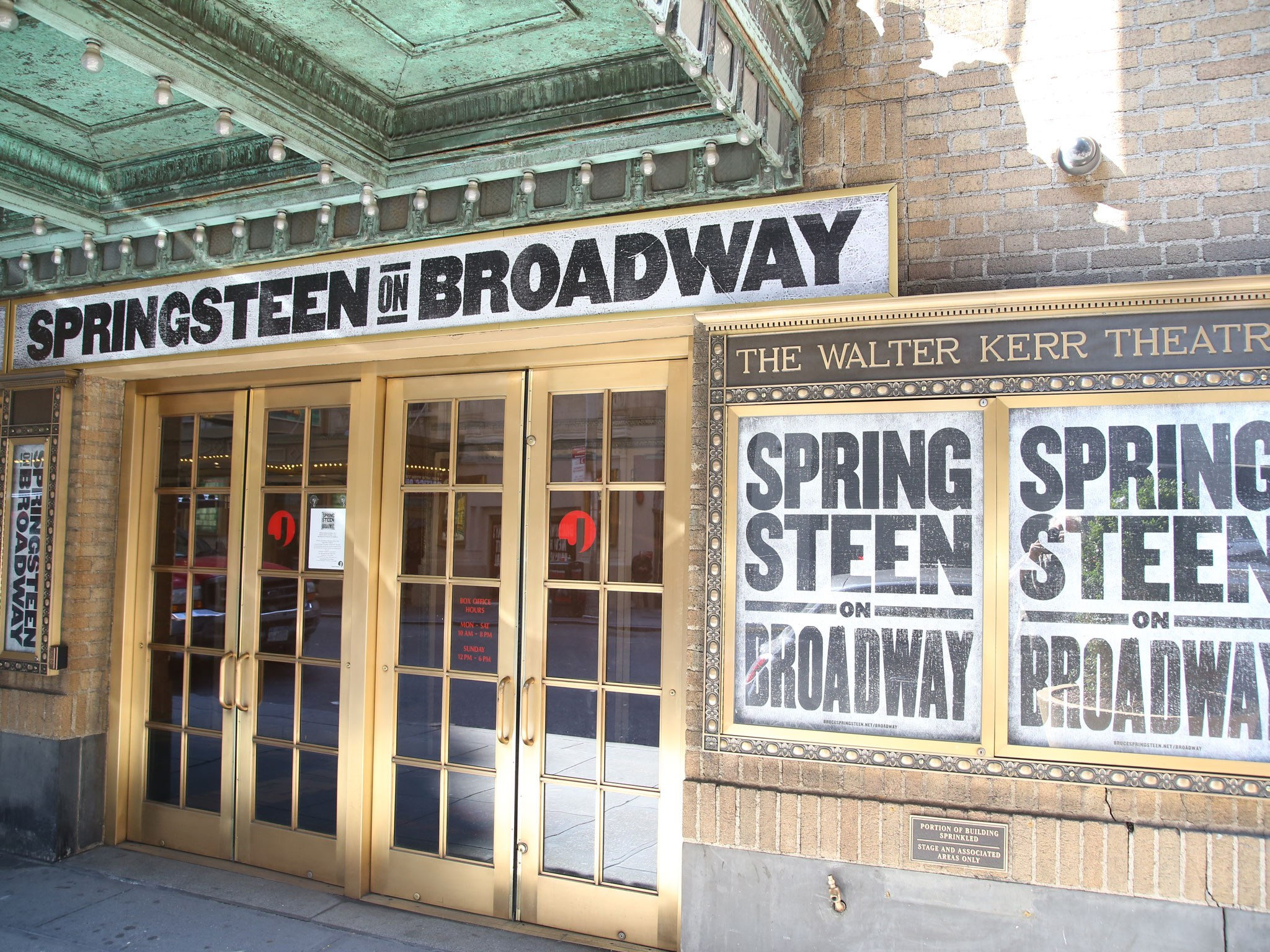 Springsteen on Broadway Marquee