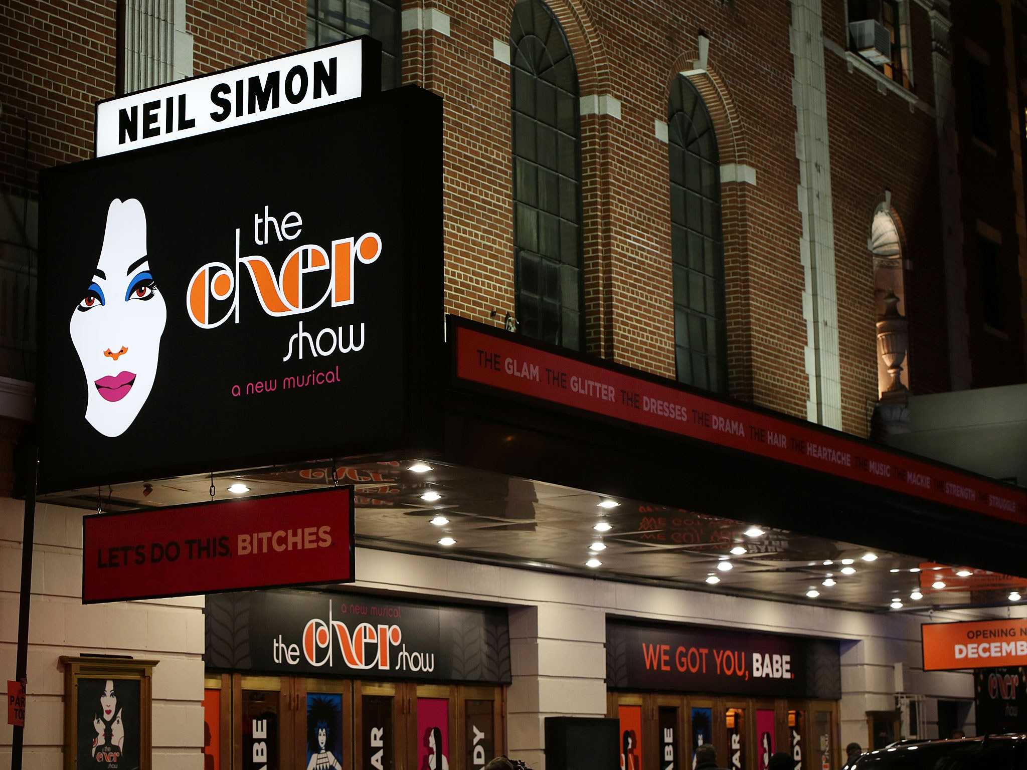 Neil Simon Theatre Marquee for The Cher Show