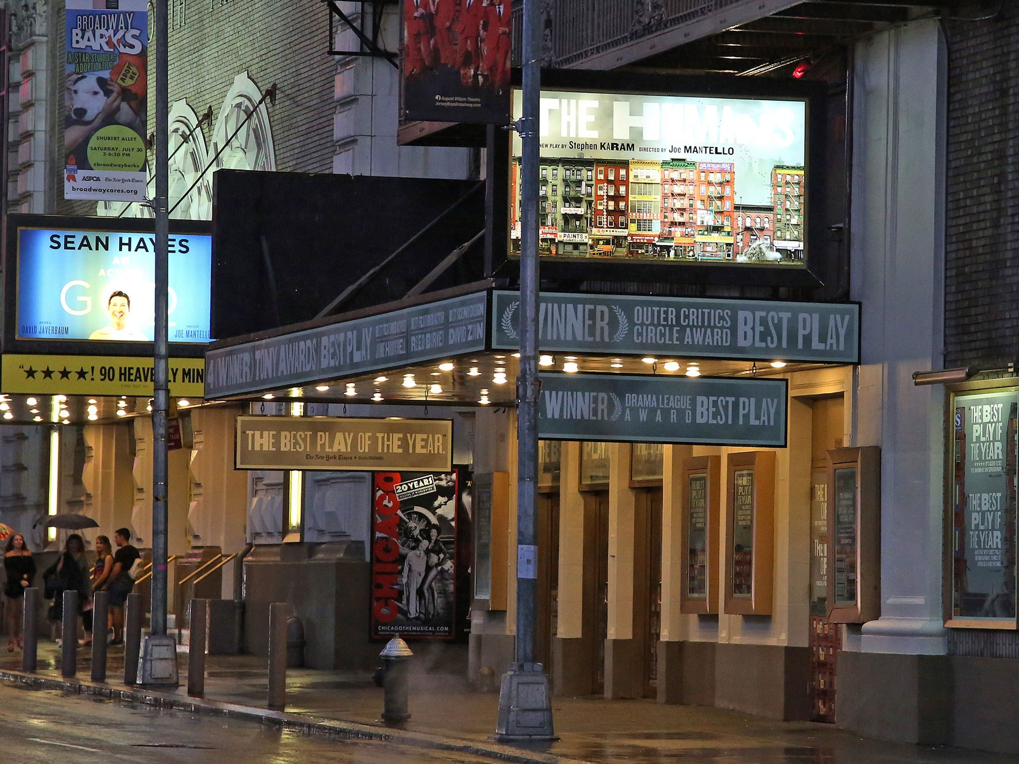 The Humans Broadway Theatre Marquee