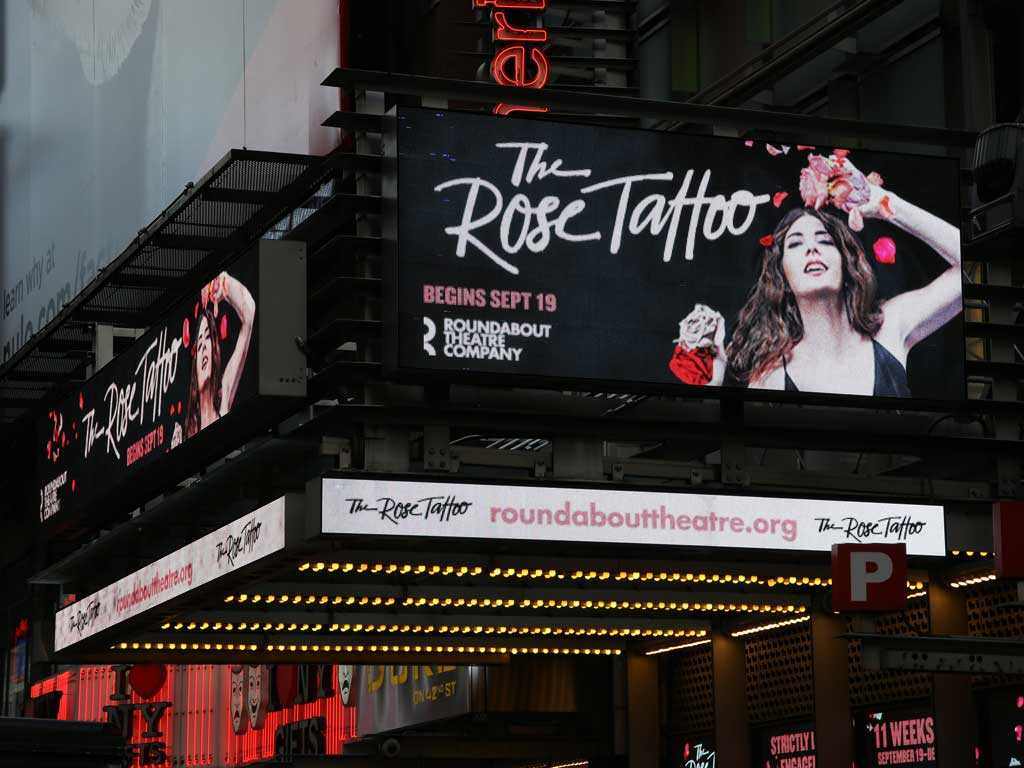 The Rose Tattoo Broadway American Airlines Theatre Marquee