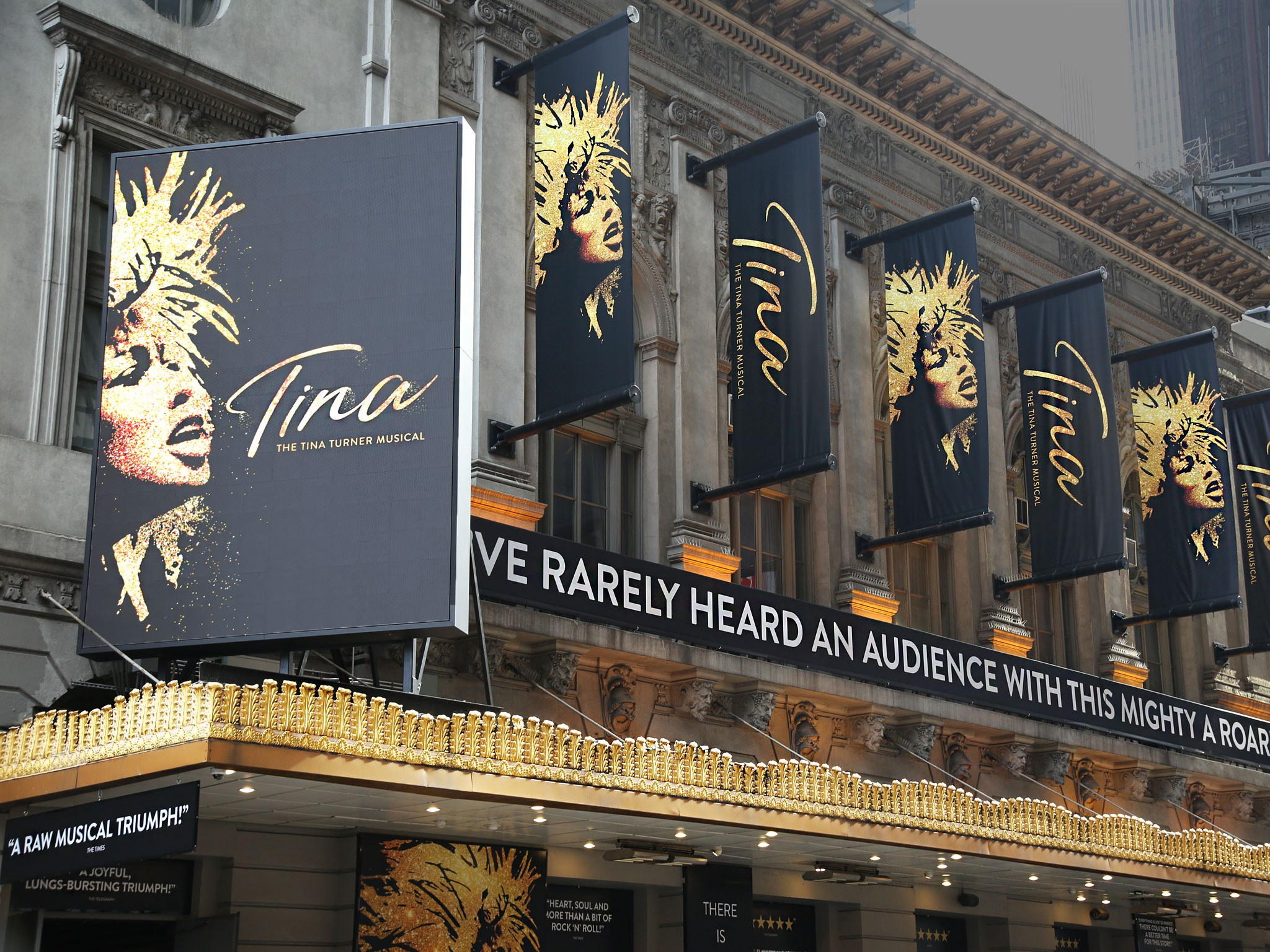 Tina The Musical at the Lunt Fontanne Theatre