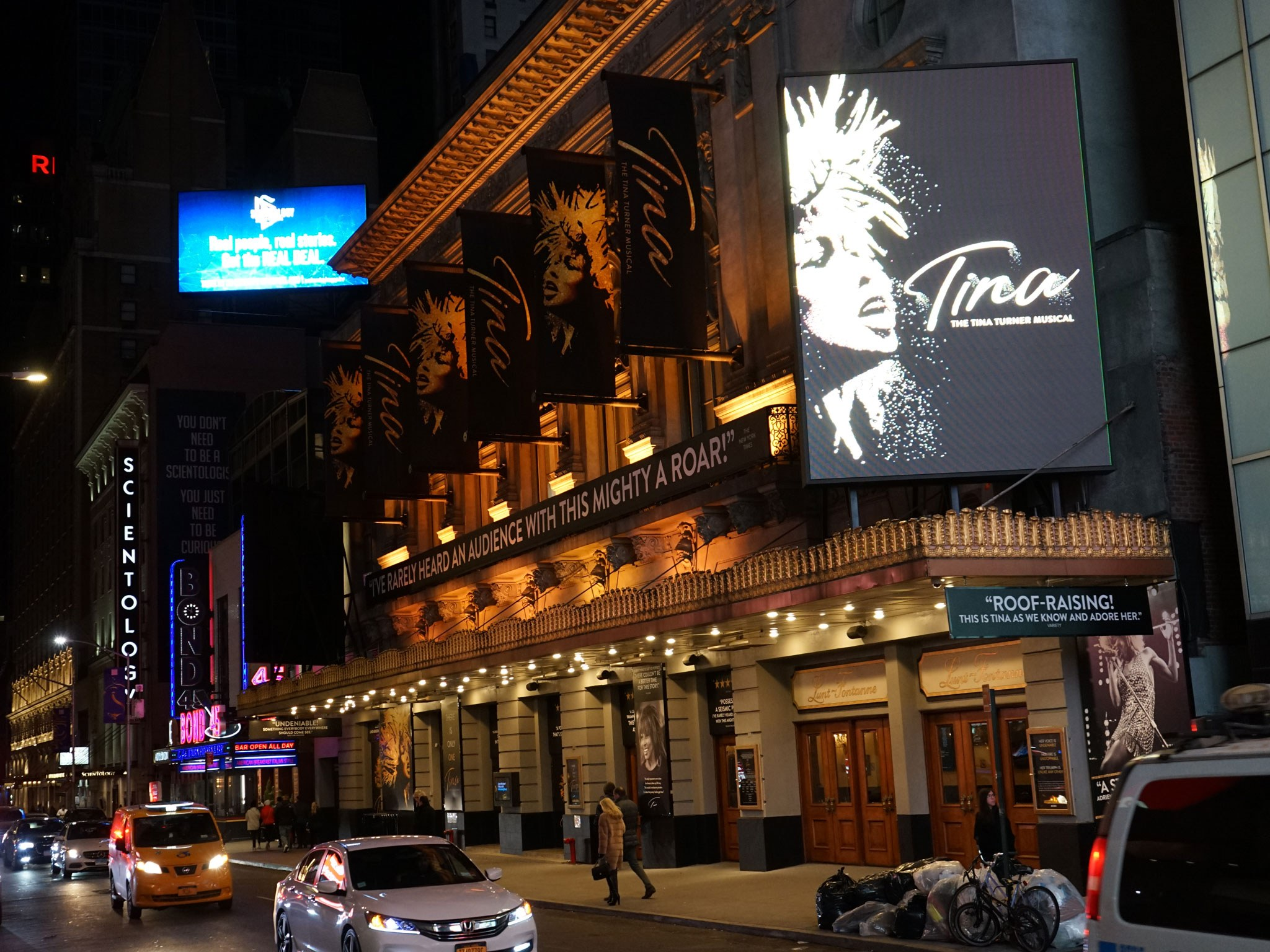 Tina: The Tina Turner Musical Broadway Theatre Marquee