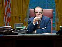 LBJ in the Oval Office in Broadway Play The Great Society