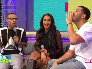 Drake on the set of 106 and park