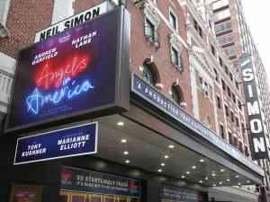 Angels in America Broadway Theatre Marquee