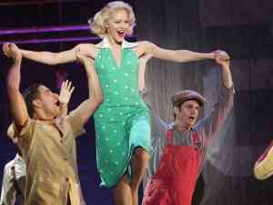 The cast of Broadway themed TV show Smash