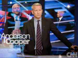 Anderson Cooper as host of CNN news show AC 360