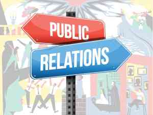 Public Relations Street Sign