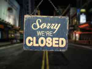 Broadway Sorry We're Closed