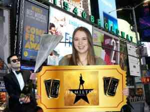 Girl Winning A Hamilton Broadway Ticket Lottery