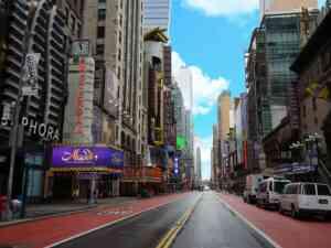 Broadway Empty during Coronavirus shutdown