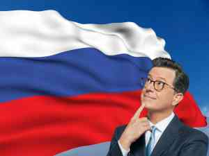 Stephen Colbert takes the Late Show to Russia for a week