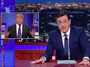 The Late Show host Stephen Colbert attacks President Trump