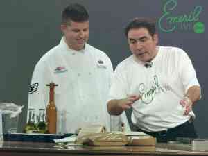 Emeril doing a cooking segment on his show