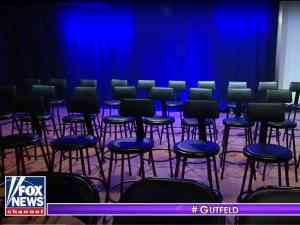Empty Chairs at Greg Gutfeld TV Studio