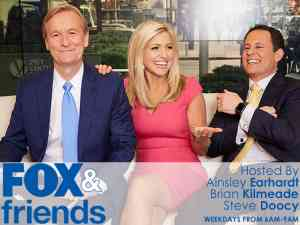 Ainsley Earhardt, Brian Kilmeade, and Steve Doocy on Fox and Friends
