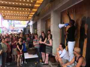 Broadway Hamilton Outside Lottery Tickets