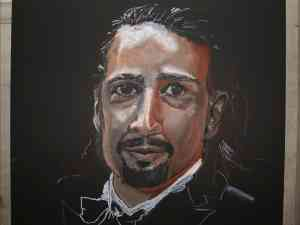 Hamilton Lin Manuel Miranda Painting