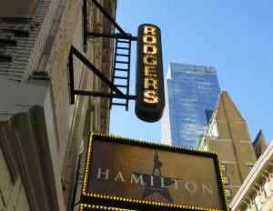 Hamilton Broadway Richard Rodgers Theatre Marquee