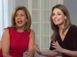 Hoda Kotb and Savannah Guthrie co-hosts of the Today Show