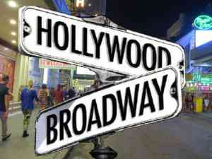 Hollywood and Broadway Street Sign
