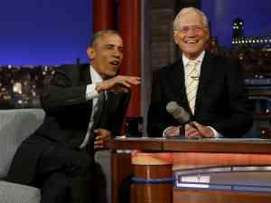David Letterman and Obama