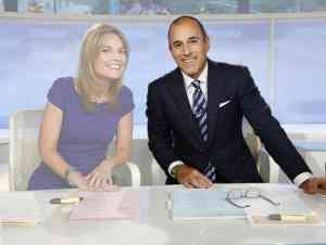 Matt Lauer And Savannah Guthrie on the Today Show