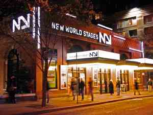 New World Stages Off Broadway Theatre Night Time Shot