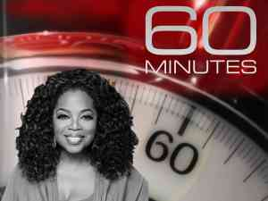 Oprah Winfrey makes an appearance on 60 Minutes