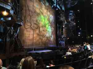 Partial view seats at Wicked on Broadway