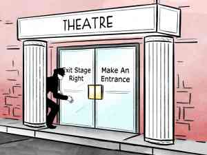 Sneaking into a Theatre