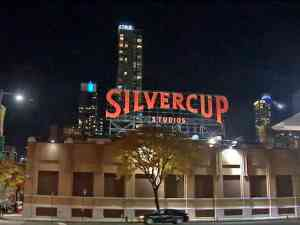 Silvercup Studios in Queens at night