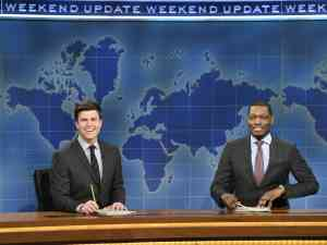 Colin Jost and Michael Che host SNL's Weekend Update