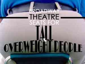 fat people on broadway - tall and overweight