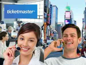 Ticketmaster Sales Agent on Phone with Customer